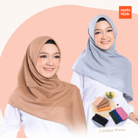 Kerudung Bella Segi Empat Paris Voal Polos Anti Air Jilbab Watersplash - Cream