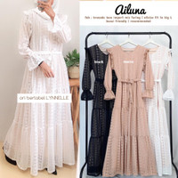 AILUNA MAXY GAMIS DRESS BAHAN BROCADE LACE IMPORT BY LYNELLE