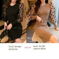 S1 Knit Bodycon Dress Fashion Wanita Premium Baju Pesta Cewek Trendy