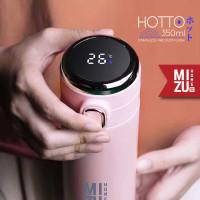 MIZU HOTTO Stainless Vacuum Thermos 350ml Botol Minum Termos Travel - BLACK hitam