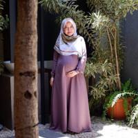 gamis busui friendly jumbo ld 120-130 dress besar wanita hamil baju