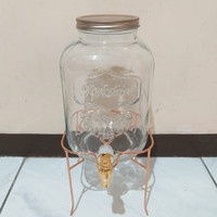 Dispenser Kaca/Glass Storage Drink/Mason Glass Jar/Beverage Glass/Kaca