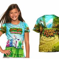 baju kaos anak perempuan Animal Jam 1 Tshirt Premium Distro - S