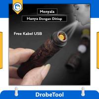 Korek Api Elektrik Unik USB Engraving Lighter Heating Coil Serbaguna - Motif Naga