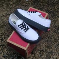 sepatu vans authentic putih sol hitam ukuran 36 - 43