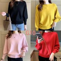 import sweater knit rajut korea blouse baju wanita jumbo big size over