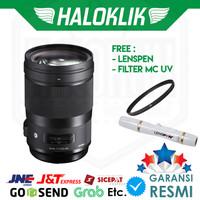 Sigma 40mm f/1.4 DG HSM (A) with Filter MC UV + Lenspen
