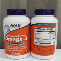 NOW Foods Omega-3 200 Softgels Fish Oil ORI USA