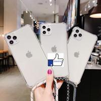 iPhone 6 6S Plus Soft Case Casing back Cover Anti Crack Tali Slempang