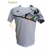 Baju Badminton Yonex Import 6050 Logo Bordir putih