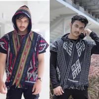HOODIE TENUN / Assojar fashion / baju Hoodie pria tenun