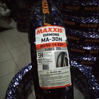 Maxxis Diamond Ukuran 80x80-14 MA-3DN TUBELES Ban Motor Scooter Matic