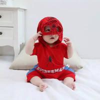 Romper hoodie spiderman for baby