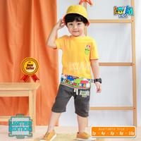 Setelan Kaos Anak Laki Laki / Baju Pendek Dan Celana Pendek - SUPER MARIO, 2