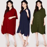 XXXL LD130 Dress Casual Super Jumbo Baju Santai Hamil BigSize Oversize