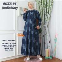 baju wanita gamis miza#3 jeans super jumbo muslim modern
