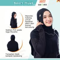 Jilbab Hijab Kerudung Sport Sporty Olahraga Senam Renang Jogging Yoga
