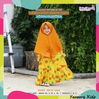 Paku Payung - Set Baju Muslim Gamis Anak Perempuan Katun Jepang Syari - Yellow, XL