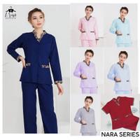 Baju suster batik Nara series Lengan panjang / seragam baby sitter