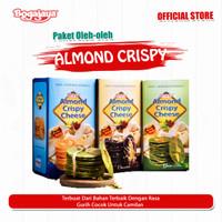 Paket almond crispy cheese 3 Pcs Original, Green Tea & Chocolate