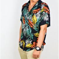 Kemeja Hawaiian Shirt Tropical Summer