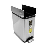 Eko 15 Ltr Tempat Sampah pedal injak Stainless Ecofly fingerprint