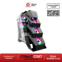 Fantech [Limited Edition] COBALT CGX7 Tempered Glass Casing Komputer