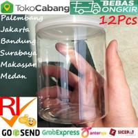 Toples Fox 500ml 12Buah Jar PET Botol Plastik Pot Cup 500 mL 0.5 Liter