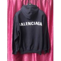 Balenciaga logo print cooton hoodie sweatshirt