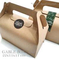 GABLE BOX : 21x11x11 cm / snack box / hampers / box lebaran / box top