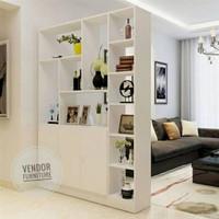 Penyekat Ruangan 2 Muka Partisi HPL Industrial - Vendor Furniture