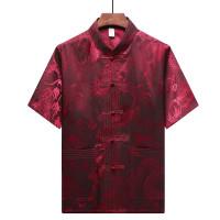 Kemeja Choengsam Terbaru Murah Baju Cowo Chongsam Congsam Merah Grosir