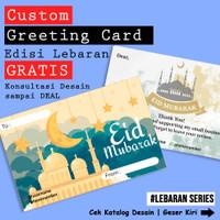 Custom Kartu Ucapan Lebaran, Eid Mubarak, Selamat Idul Fitri