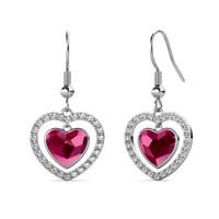 Cheery Love Earrings - Anting Crystal LUVEA by Her Jewellery