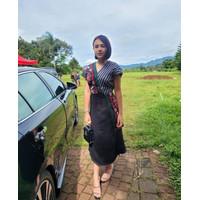Dress Batik Andin Etnit Tenun Songket Mewah All Size Jumbo Murah