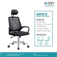 Avery Furnitures - Kursi Kantor / Kursi Putar / Kursi Office OMC012 - Hitam