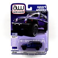 AW Auto World 1:64 Jeep Wrangler JK Unlimited Sport Dark Blue