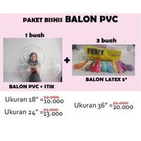 paket balon pvc | balon bobo | balon bening | buket balon