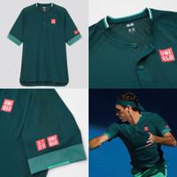 Uniqlo Roger Federer 2021 Tenis Tennis MEN DRY-EX POLO SHIRT Baju