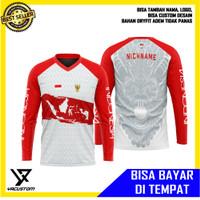 Baju Jersey Sepeda Indonesia Series Lengan Panjang KaoS Gowes INA1