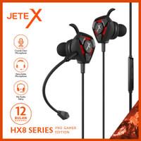 Earphone I Earbuds I Headset Gaming with Mic JETEX HX8 - Garansi Resmi