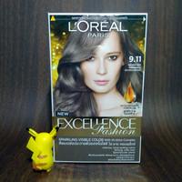 Loreal Paris Excellence Fashion Hair Color Cat Rambut 9.11 Silver Ash