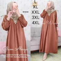 baju gamis syari baru jumbo L XL XXL XXXL 5L fasion muslim terbaru