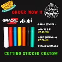 Cutting Sticker Custom   ORACAL 651   ASAHI   Desain suka-suka