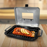Crystal Oven- alat Panggang Grill Bakar BBQ Pangganga Tutup Kaca