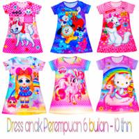 dress anak perempuan daster anak perempuan motif kartun fullprint