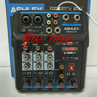 AUDIO MIXER ASHLEY SPEED UP4(4 CHANNEL)USB,BLUETHOOtH