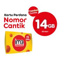KARTU PERDANA NOMOR CANTIK FREEDOM COMBO 14GB/ 30 HARI