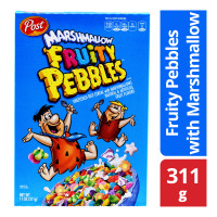 Post Sweetened Rice Cereal - Fruity Pebbles with Marshmallow 311g