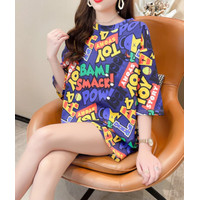 Kaos Toy Story Semi Dress Pendek Wanita Cartoon Tee Korea